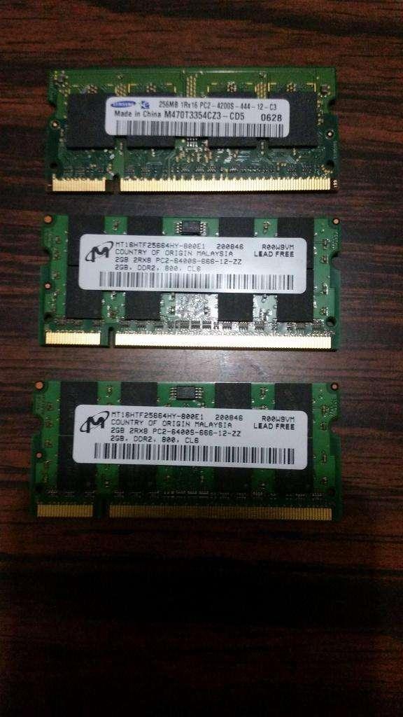 SE VENDEN MEMORIA DDR2 PARA PORTÁTIL 0