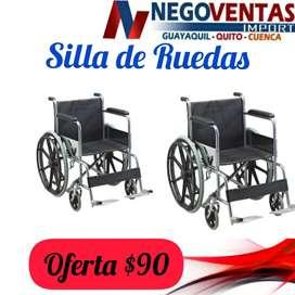 SILLA DE RUEDAS METÁLICA EN OFERTA ÚNICA DE NEGOVENTAS