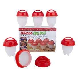Moldes Para Cocinar Silicone Huevos Egg Boil X 6 Piezas