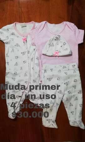 Venta de ropita bebé niña buenas marcas máximo 2 usos