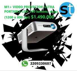 M1 VIDEO PROYECTOR ULTRA PORTABLE LED 300 LUMENS WXGA 1200X800DPI