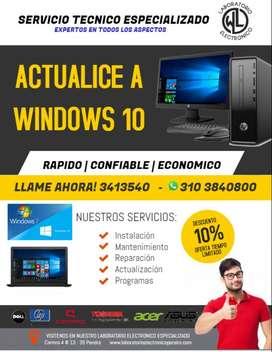 ACTUALICE SU COMPUTADOR A WINDOWS 10!
