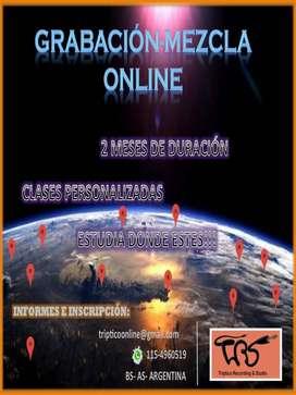 Grabacion - Mezcla - Sonido - Online