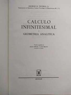Calculo Infinitesimal Y Geometría Analitíca  George B. Jr Thomas·Aguilar