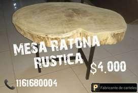 Mesa ratona rústica