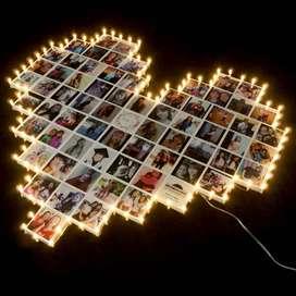 corazón luminoso con mosaico personalizado