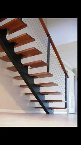 Escaleras en Hierro Y Madera.