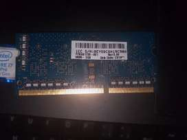 Memoria RAM pc3L 2gb portatil