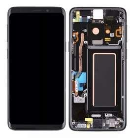 Pantalla Lcd Digitalizador Completa Marco Aluminio negro Galaxy S9