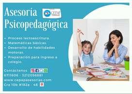Asesoría Psicopedagógica - Proceso de Lectoescritura