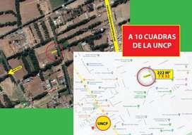 Terreno de 222 mts. (7x32) a 10 cuadras de la UNCP