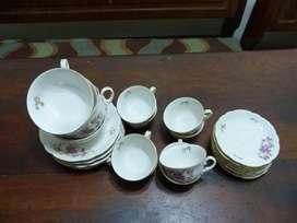 Juego De 7 Tazas De Cafe Y 7 Platitos Porcelana Verbano