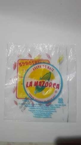 Venta de bolsas para empacar arepas, quesos,ya sean para cemento u otros elementos