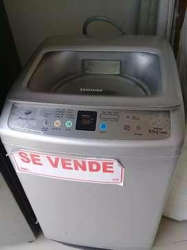 Lavadora digital gris