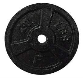 """Disco 20 libras en Hierro Mancuerna barra Pesa Gym 2.5cm - 1"""""""