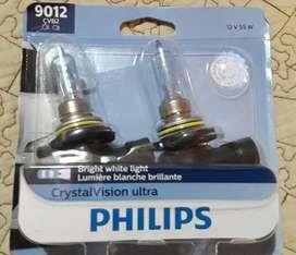 Juego focos Philips 9012 HIR2 Crystal Vision Ultra