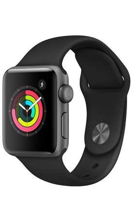 Apple Watch Series 3(gps) 38mm Gris Espacial Con Banda deportiva Negra