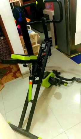 Máquina de ejercicios fit  crusch evolución 2en1 crunch+bicicleta 100% operativa