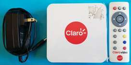 Decodificador Smart TV Box Claro Video Wifi HDMI AV USB SD