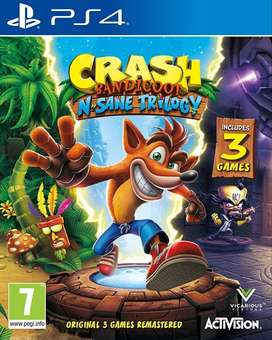 Crash Bandicoot N'sane Trilogy Playstation 4 Ps4, Físico