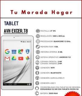 """Tablet Avh Excer T8   8"""" pulgadas- Nueva"""