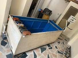 tanque para hidrografia en fibra de vidrio, perfecto estado negociable