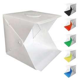 Caja fotografica 40cm x 40cm6 fondos de color