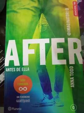 Libro:After-antes de ella, autor: Anna Todd