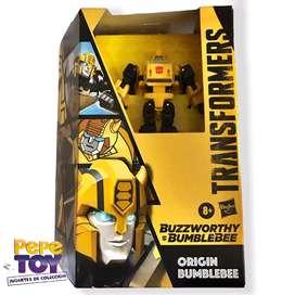 Transformers BUZZWORTHY ORIGIN BUMBLEBEE Cybertronian Deluxe Generations