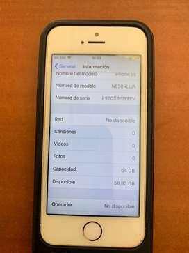 Iphone 5s 64 gb libre de fabrica sin icloud