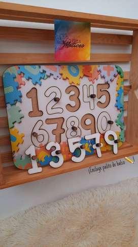 Juego didáctico ¡aprendamos a escribir los números !