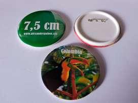 50 Botones Publicitarios 7,5 cm