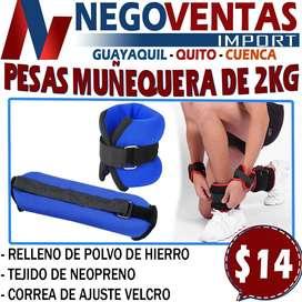 PESAS MUÑEQUERAS DE 2KG