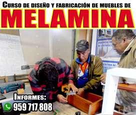 ya puedes inscribirte clases practicas de fabricación de muebles de Melamina