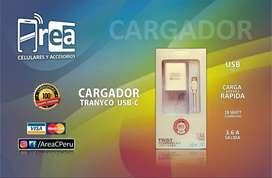 CARGADOR TRANYCO USB-C - CABLE PARA DATOS