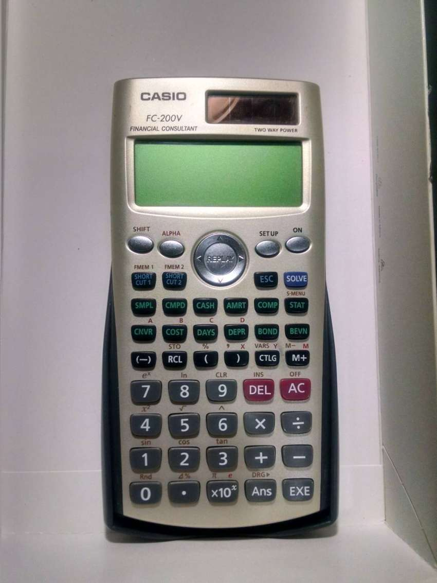 CASIO FC-200V - Calculadora Financiera Original 0