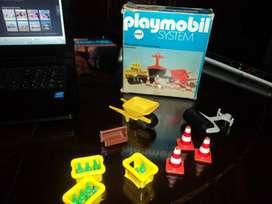 ANTIGUA CAJA PLAYMOBIL FAMOSA DE PLAYMOBIL SYSTEM ACCESORIOS CONSTRUCCION Nº 3202