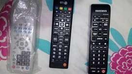 Controles de tv de equipo y dvd