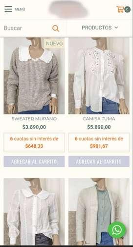 Oportunidad: Tienda Online Indumentaria Femenina + Mercadería + Mobiliarios
