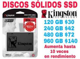 DISCOS SÓLIDOS SSD KINGSTON 120GB 240GB  480GB 960GB 1TB