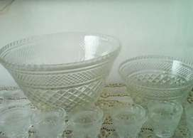 Poncheras de vidrio biselado