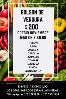 Bolson de verduras super economico