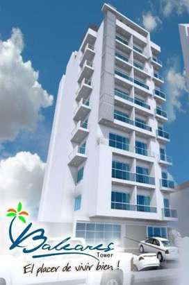 Apto nuevo baleares tower chipre edf nuevo - parqueadero - jacuzzi - ascensor- leasing disponible para ceder con el bbva