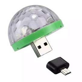 Mini RGB cristal bola magica efecto luz Auto giratorio bombillas led