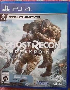 VENDO  GHOST RECON BREAKPOINT PS4