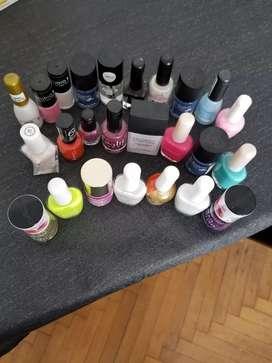 Lote de esmaltes de uñas importados y nacionales