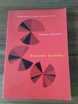 Economics Systems . Gregory Grossman en ingles . modern economics 1967