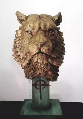 Escultura de Tigre