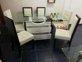 Promocion Juego de comedor +juego de mueble moderno a buen precio.