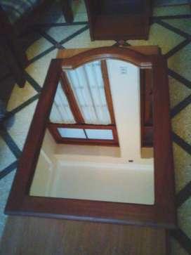 Espejo Algarrobo Macizo 0,89 x 0,59 m
